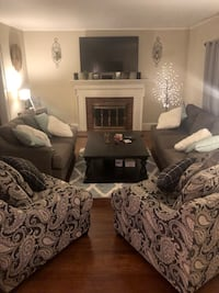 Ashley Furniture sofa, loveseat, and 2 chairs