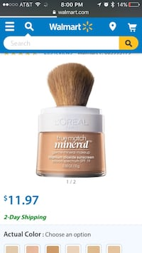 L'oreal true match mineral. Soft Ivory N1-2. Bought wrong shade. USED ONCE. $5 CASH.