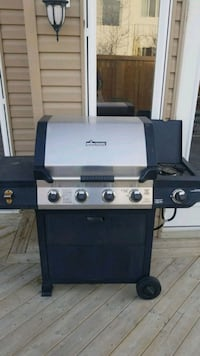 black and gray propane  grill. Fort Saskatchewan