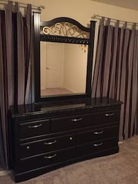 black wooden dresser with mirror Calgary, T3H 5S5