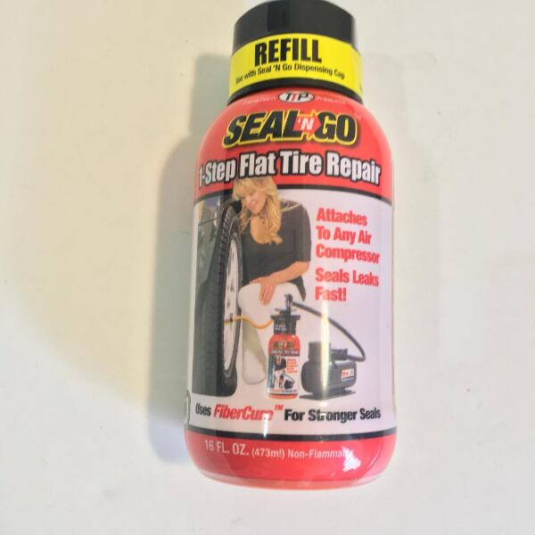 One Step Flat Tire Repair (Flat Tire Emergency Sealant Kit)