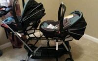 baby's black and gray stroller 567 mi