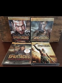 four assorted-title DVD cases 3156 km