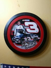 black and red Dale Nascar 3 analog wall clock