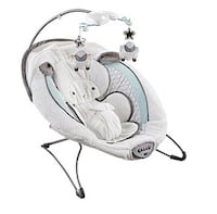 baby's white cradle and swing Montréal, H1R 1G3