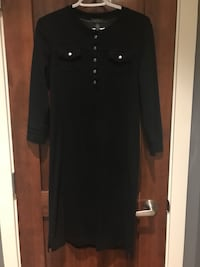 black button-up long-sleeved dress North Vancouver, V7M 1S6