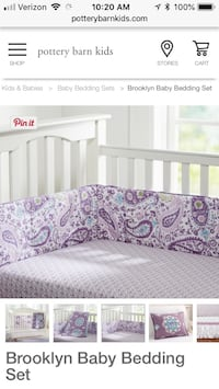 Pottery barn crib bedding  Charlotte, 28214