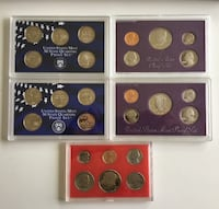 Lot of 5 1980s -2000s American Proof Sets Calgary, T2R 0S8