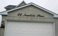 Home address script signs with installation Markham, L6B 0P4