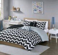 5 PC King size duvet cover bed in a bag *New* Brampton, L6S 4G9