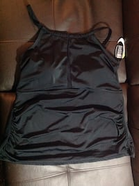 Brand new black swimming suit with tag size 20