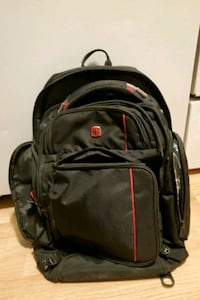 Swiss backpack! Built in light, USB charger, cooler and power pack!
