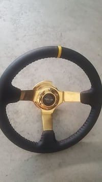 Brand New Gold NRG Steering wheel and NRG 2.0 Quick Release Fremont