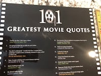 Movie quote decor.  Great for movie room! Leesburg, 20176