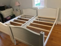 Twin bunk beds. Missing dowels to stack but dowels can easily be purchased or made   Mc Lean, 22101