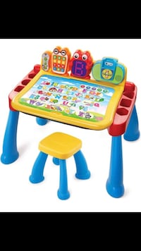 V tech educational table and chair