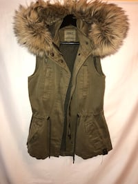 Olive Green ONLY Vest with Fur Coquitlam, V3B 6A3