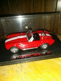 red and white Shelby Cobra scale model Detroit, 48228
