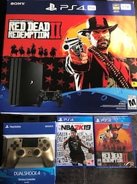Sony ps4 with new controller and 2k19 plus the new red dead redemption game  Atlanta, 30318