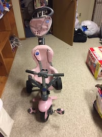 Toddler's pink and gray push trike (fisher price) Colonie, 12205