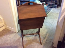 Vintage Wood sewing chest