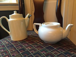 Two (2) Teapots by Hall