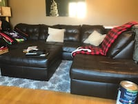 Leather sectional Harriman, 37748