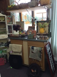 Kitchen cabinet with upper shelf. Must be picked up at Classic Consignment and Home Decor in West Union.  Walhalla, 29691