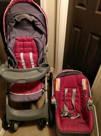 Graco snugride 30 car seat and stroller