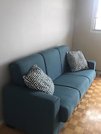Blue Sofa for sale (can collapse into Sofa bed) Ottawa, K2B 7J6