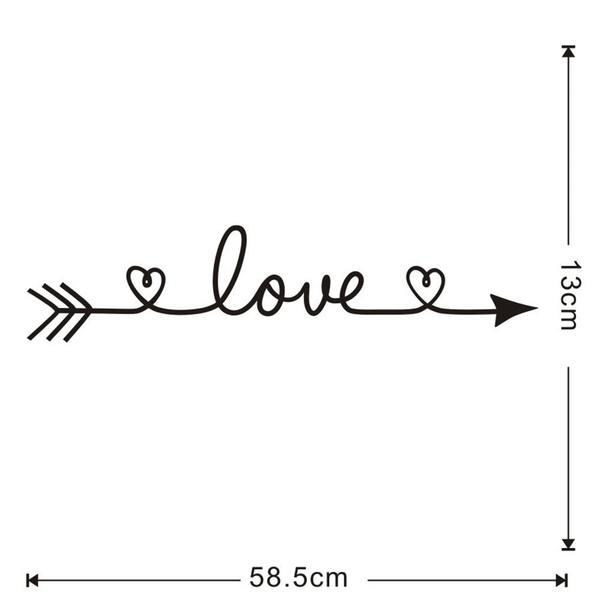 Brand New - Love Arrow with Heart Wall Decal