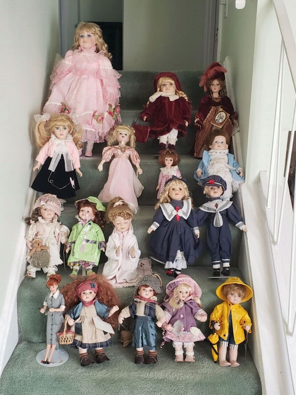 Beautiful porcelain doll collection: