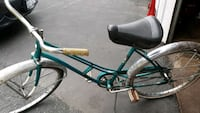 blue and white bicycle.vintage 59yr old.  Yonkers, 10704