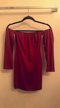 women's red and black long-sleeved dress Los Angeles, 90006