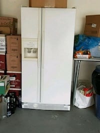 white side-by-side refrigerator with dispenser Edmonton, T5T 6H5
