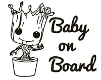 Groot baby on board decals Henderson, 42420