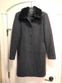 """Wool jacket with removable """"fur""""  Edmonton, T6W 2H3"""