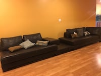 Beautiful Two Piece Sofa Set With Pillows! Burke