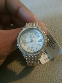 round silver-colored chronograph watch with link bracelet 2336 mi