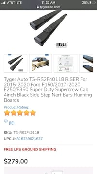 Running boards for Ford super duty,  quad cab brand new