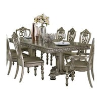 NEW HOMELEGANCE CATALONIA GRAY DINING TABLE SET 7 PCS Clifton, 07013