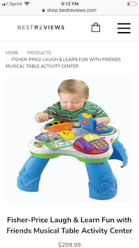 Fisher price laugh and learn table to tablet conversion toy Altamonte Springs, 32714