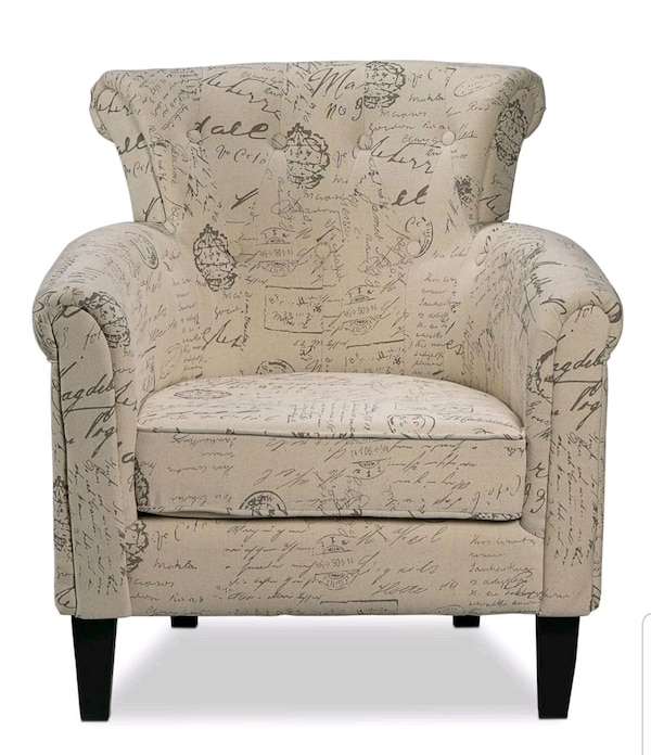 Outstanding 2 Beautiful Accent Chairs Yanny Scroll White Bralicious Painted Fabric Chair Ideas Braliciousco