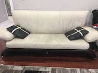 white and black leather sofa Vaughan, L6A 0H5