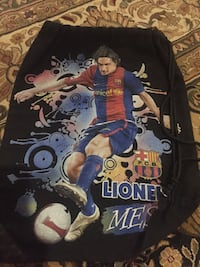 black Lionel Messi printed drawstring backpack Whitby, L1P