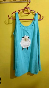blue and white floral tank top Singapore