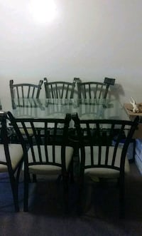 rectangular brown wooden table with six chairs dining set Lexington, 40504