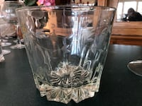 Etched glass ice bucket