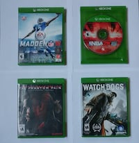 4 - Xbox ONE games. *LOW PRICE* Dover