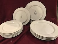 white ceramic plate dinnerware set Newport, 02840